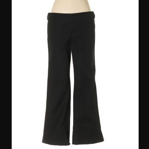 Gap Solid Black Khaki Trousers
